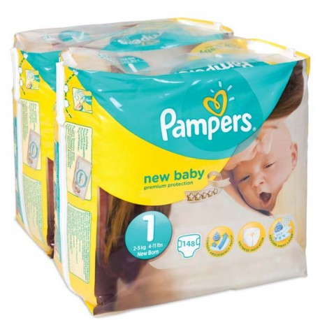 Maxi giga pack 374 Couches Pampers Premium Protection taille 1 sur 123 Couches