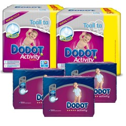 Mega pack 156 Couches Dodot Activity taille 6 sur 123 Couches