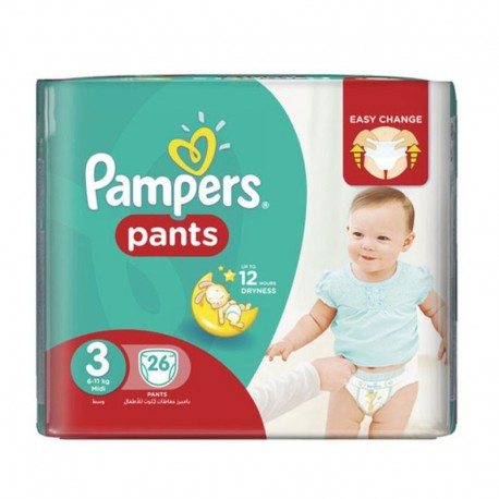 Pack 19 Couches Pampers Baby Dry Pants taille 3 sur 123 Couches