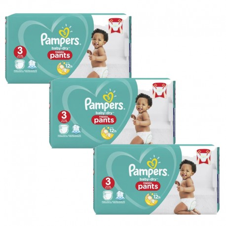 Pack 76 Couches Pampers Baby Dry Pants taille 3 sur 123 Couches