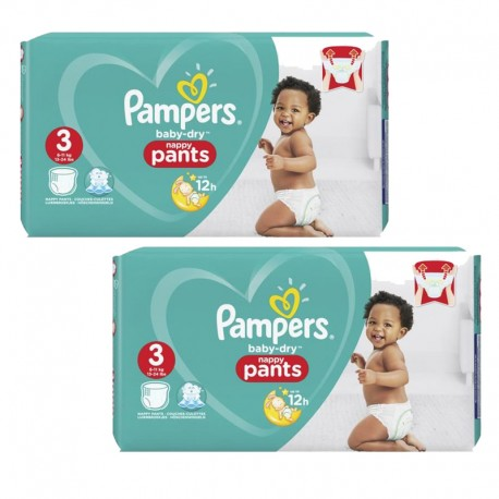 Maxi giga pack 342 Couches Pampers Baby Dry Pants taille 3 sur 123 Couches