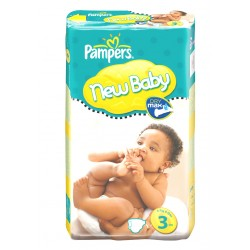 Pack 68 Couches Pampers New Baby Premium Protection taille 3 sur 123 Couches