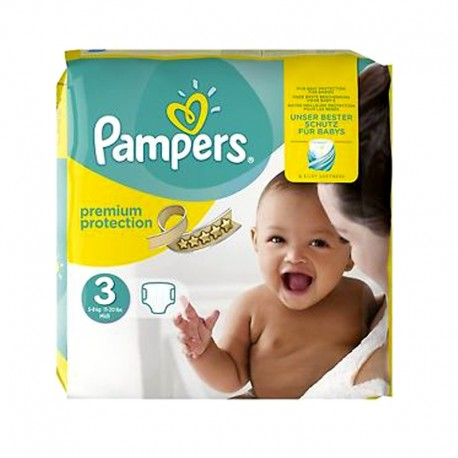 Pack 29 Couches Pampers Premium Protection taille 3 sur 123 Couches