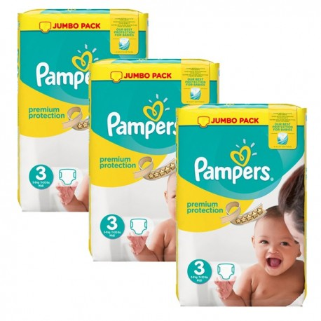 Mega pack 145 Couches Pampers Premium Protection taille 3 sur 123 Couches