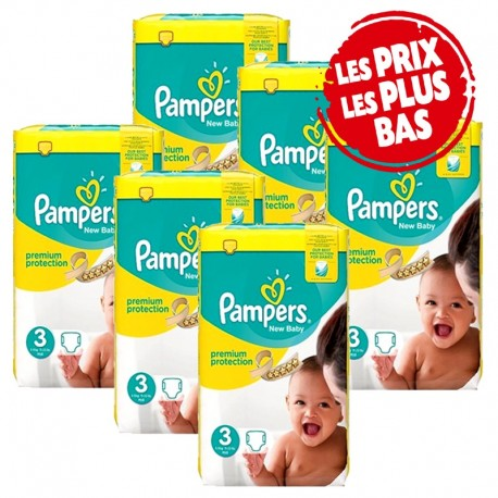 Mega pack 174 Couches Pampers Premium Protection taille 3 sur 123 Couches