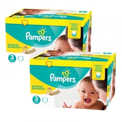 Giga pack 203 Couches Pampers Premium Protection taille 3