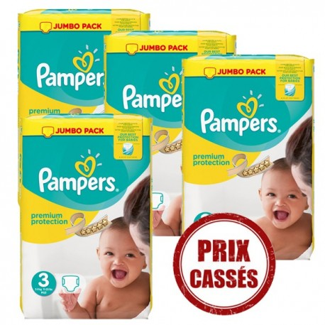 Giga pack 290 Couches Pampers Premium Protection taille 3 sur 123 Couches