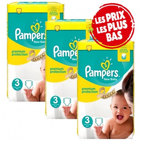 Maxi giga pack 348 Couches Pampers Premium Protection taille 3 sur 123 Couches