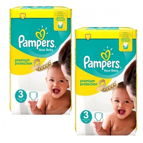 Maxi mega pack 406 Couches Pampers Premium Protection taille 3 sur 123 Couches