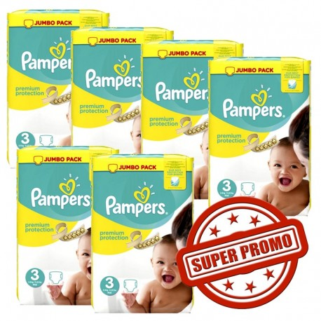 Maxi mega pack 464 Couches Pampers Premium Protection taille 3 sur 123 Couches