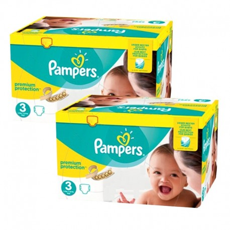 Maxi mega pack 493 Couches Pampers Premium Protection taille 3 sur 123 Couches