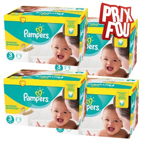 Pack jumeaux 522 Couches Pampers Premium Protection taille 3 sur 123 Couches