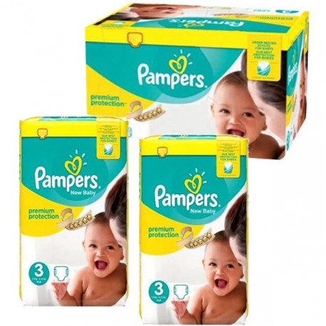 Pack jumeaux 580 Couches Pampers Premium Protection taille 3 sur 123 Couches