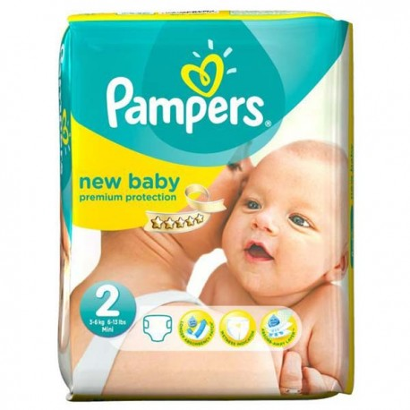 Pack 52 Couches Pampers Premium Protection taille 2 sur 123 Couches