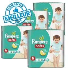 Giga pack 288 Couches Pampers Baby Dry Pants taille 6 sur 123 Couches