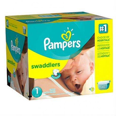 Giga pack 280 Couches Pampers Premium Protection taille 1 sur 123 Couches