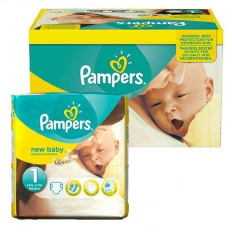 Pack jumeaux 504 Couches Pampers Premium Protection taille 1 sur 123 Couches