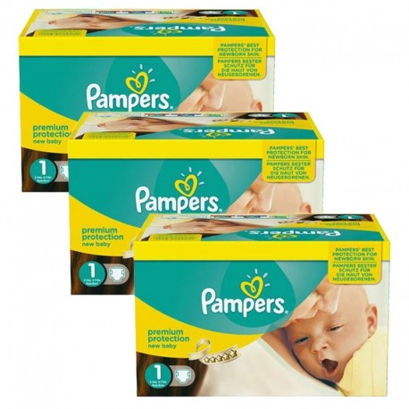 Pack jumeaux 728 Couches Pampers Premium Protection taille 1 sur 123 Couches