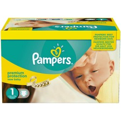 Pack jumeaux 784 Couches Pampers Premium Protection taille 1