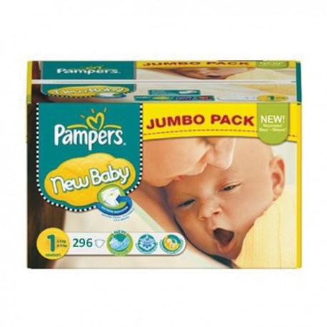 Pack jumeaux 840 Couches Pampers Premium Protection taille 1 sur 123 Couches
