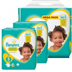 Mega pack 136 Couches Pampers Premium Protection taille 5 sur 123 Couches