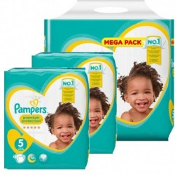 Pack jumeaux 612 Couches Pampers Premium Protection taille 5 sur 123 Couches