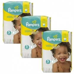Pack jumeaux 816 Couches Pampers Premium Protection taille 5 sur 123 Couches
