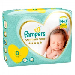 Pack 30 Couches Pampers Premium Care taille 0 sur 123 Couches