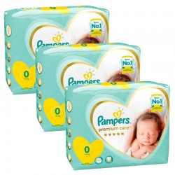 Pack 90 Couches Pampers Premium Care taille 0 sur 123 Couches