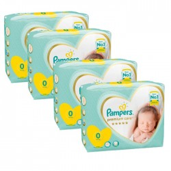Maxi giga pack 300 Couches Pampers Premium Care taille 0 sur 123 Couches