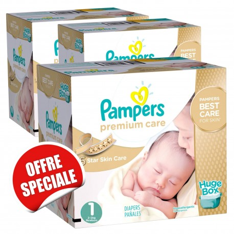 Mega pack 156 Couches Pampers Premium Care taille 1 sur 123 Couches