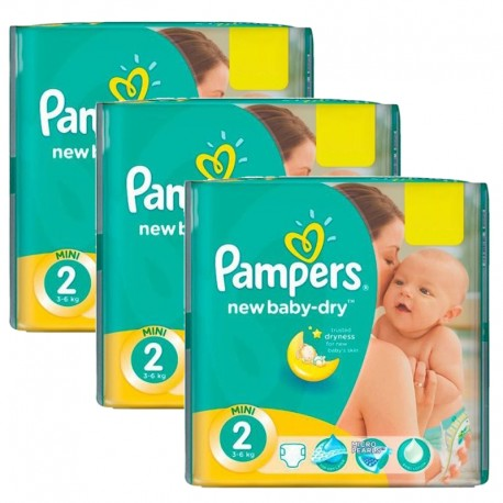 Mega pack 136 Couches Pampers New Baby Dry taille 2 sur 123 Couches