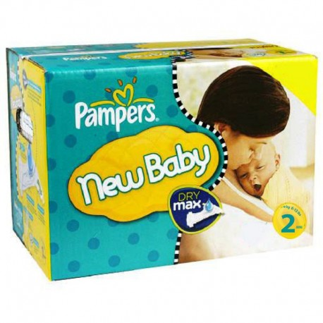 Maxi giga pack 340 Couches Pampers New Baby Dry taille 2 sur 123 Couches