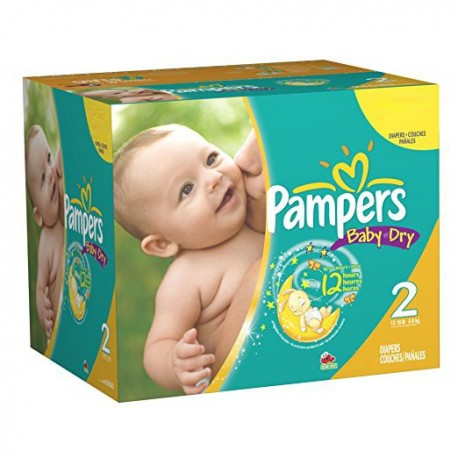 Pack jumeaux 544 Couches Pampers New Baby Dry taille 2 sur 123 Couches