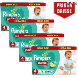 Pack jumeaux 620 Couches Pampers Baby Dry Pants taille 4 sur 123 Couches