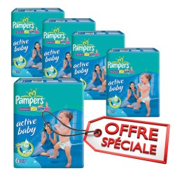 Maxi giga pack 336 Couches Pampers Active Baby Dry taille 6 sur 123 Couches