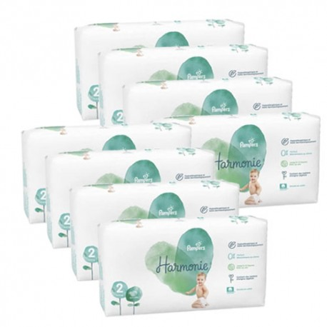 Giga pack 234 Couches Pampers Harmonie taille 2 sur 123 Couches