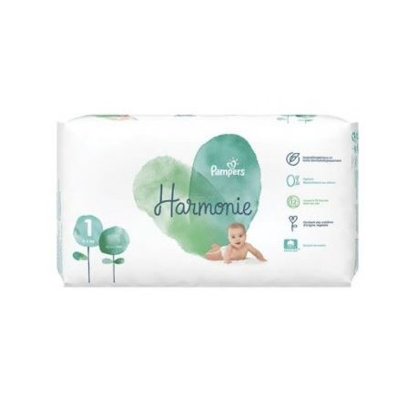 Pack 68 Couches Pampers Harmonie taille 1 sur 123 Couches
