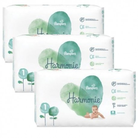 Pack jumeaux 544 Couches Pampers Harmonie taille 1 sur 123 Couches