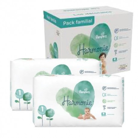 Pack jumeaux 680 Couches Pampers Harmonie taille 1 sur 123 Couches