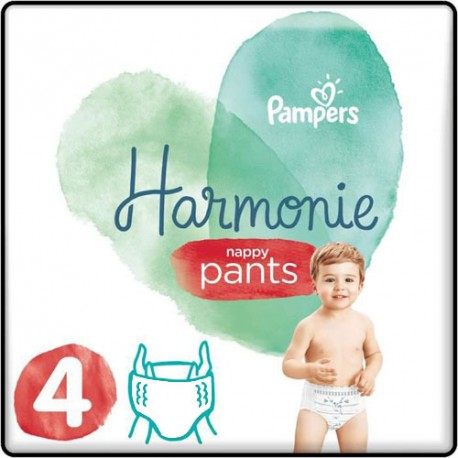 Pack 58 Couches Pampers Harmonie Pants taille 4 sur 123 Couches