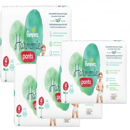 Giga pack 290 Couches Pampers Harmonie Pants taille 4 sur 123 Couches