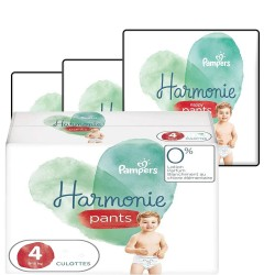 Maxi mega pack 406 Couches Pampers Harmonie Pants taille 4 sur 123 Couches