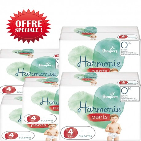 Pack jumeaux 580 Couches Pampers Harmonie Pants taille 4 sur 123 Couches