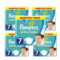 Pack 88 Couches Pampers Active Baby Dry taille 7 sur 123 Couches