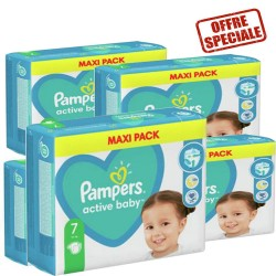 Mega pack 132 Couches Pampers Active Baby Dry taille 7 sur 123 Couches