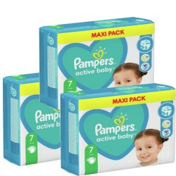Mega pack 176 Couches Pampers Active Baby Dry taille 7 sur 123 Couches