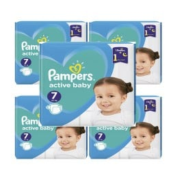 Giga pack 220 Couches Pampers Active Baby Dry taille 7 sur 123 Couches