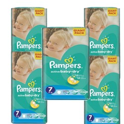 Maxi giga pack 352 Couches Pampers Active Baby Dry taille 7 sur 123 Couches