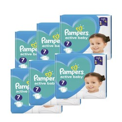 Maxi giga pack 396 Couches Pampers Active Baby Dry taille 7 sur 123 Couches